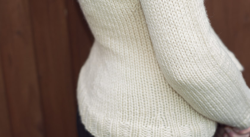 Knitted Owl jumper back shaping