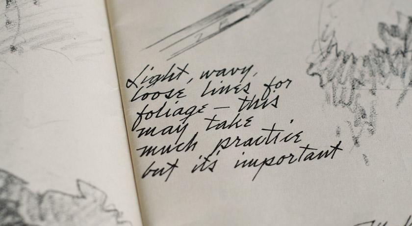 Hand written drawings instructions