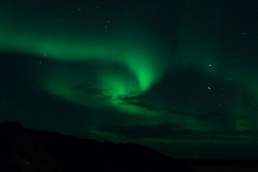 Swirling Aurora Borealis