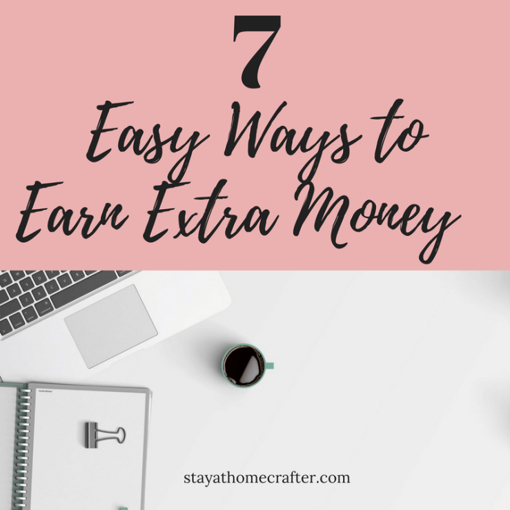 7 Easy Ways to Earn Extra Side Income from Home as a Stay at Home Parent. All of these are methods we use and love in our own home! Check this post out and get on your way to making extra side income! Repin now for later!