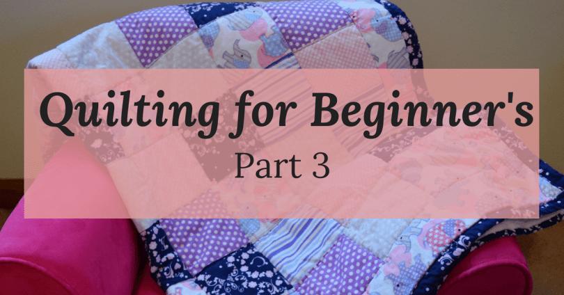 Step by Step Guide to Sewing your own Baby Quilt for even the most inexperience beginner sewers. Follow along week by week to create your own beautiful baby quilt from start to finish! Repin now for later!