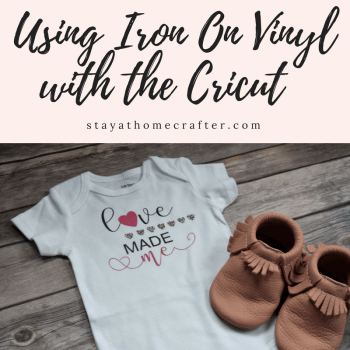 Heat Transfer Vinyl is such a fun, easy project! The Cricut makes working with HTV a breeze. This step-by-step guide to working with heat transfer vinyl is a must have for Cricut vinyl beginners! Includes free downloadable Valentines Day Cricut cut file. Repin now for later!