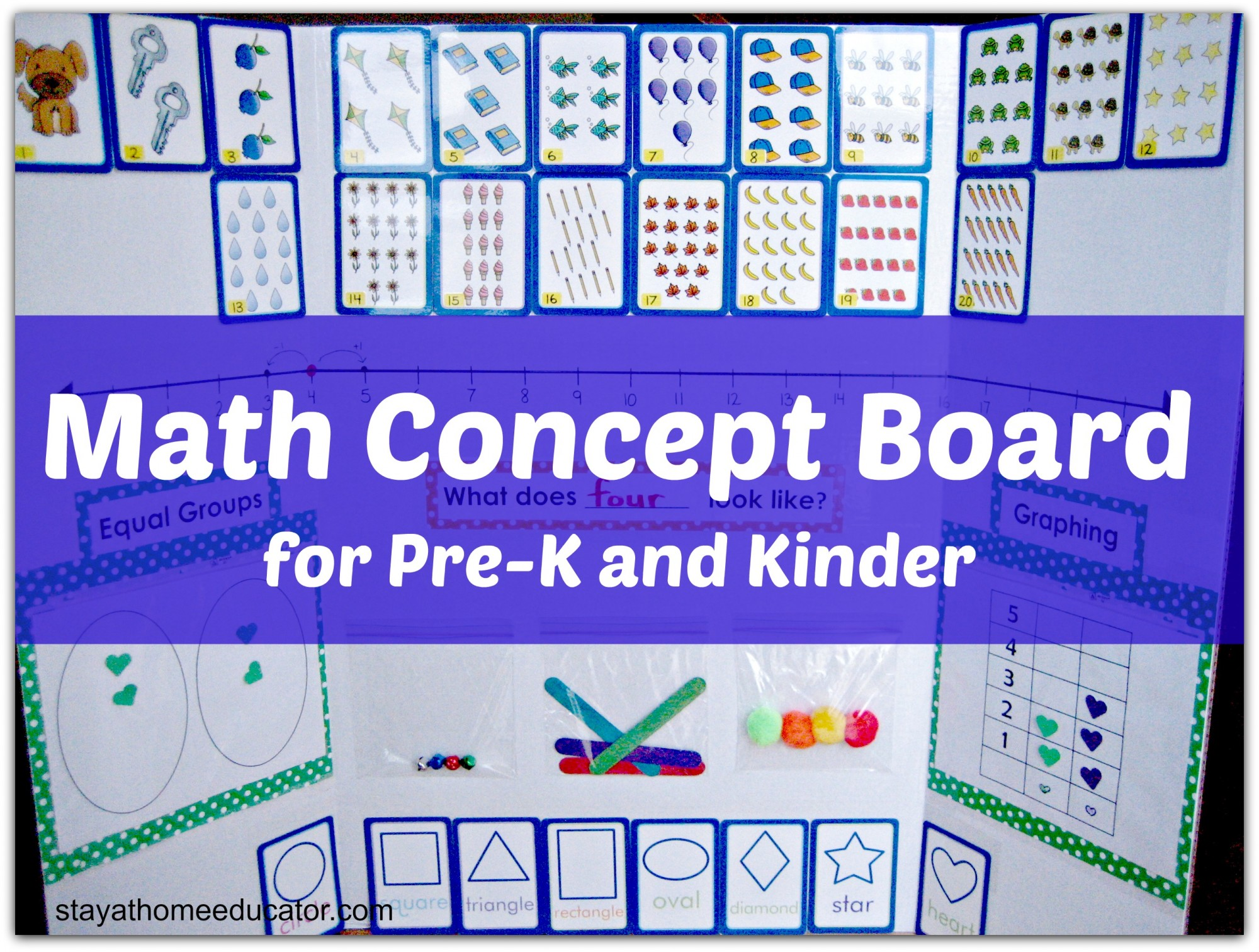Math Concpet Board For Preschool And Kindergarten