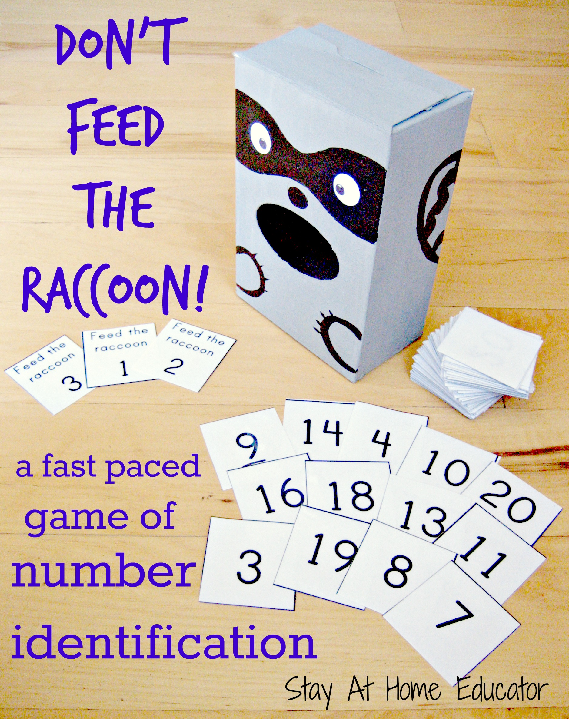 Don T Feed The Raccoon A Fast Paced Game Of Number Identification