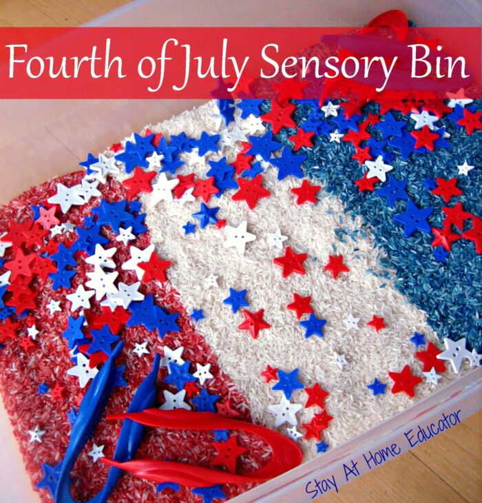 4th Of July Sensory Bin For Preschoolers