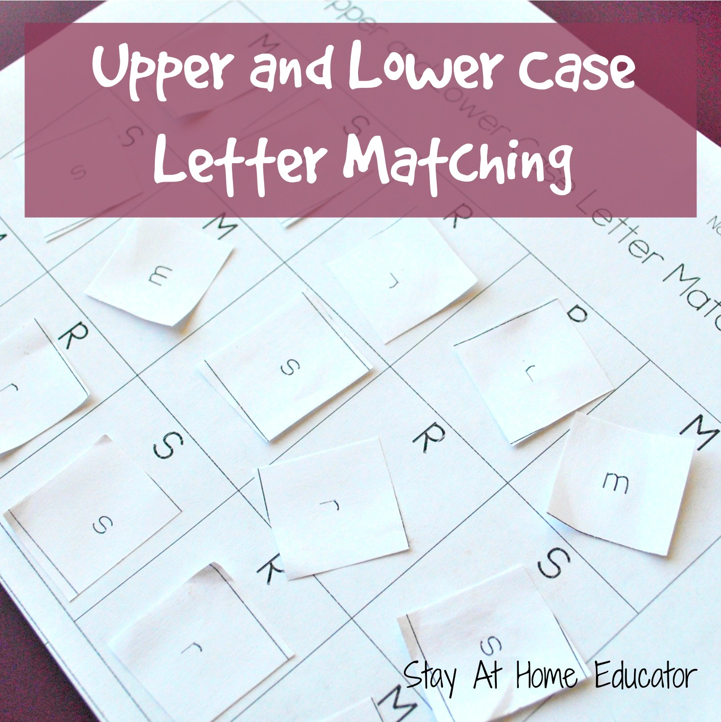 Upper And Lower Case Letter Matching Activity For Letter Recognition Review Activity In