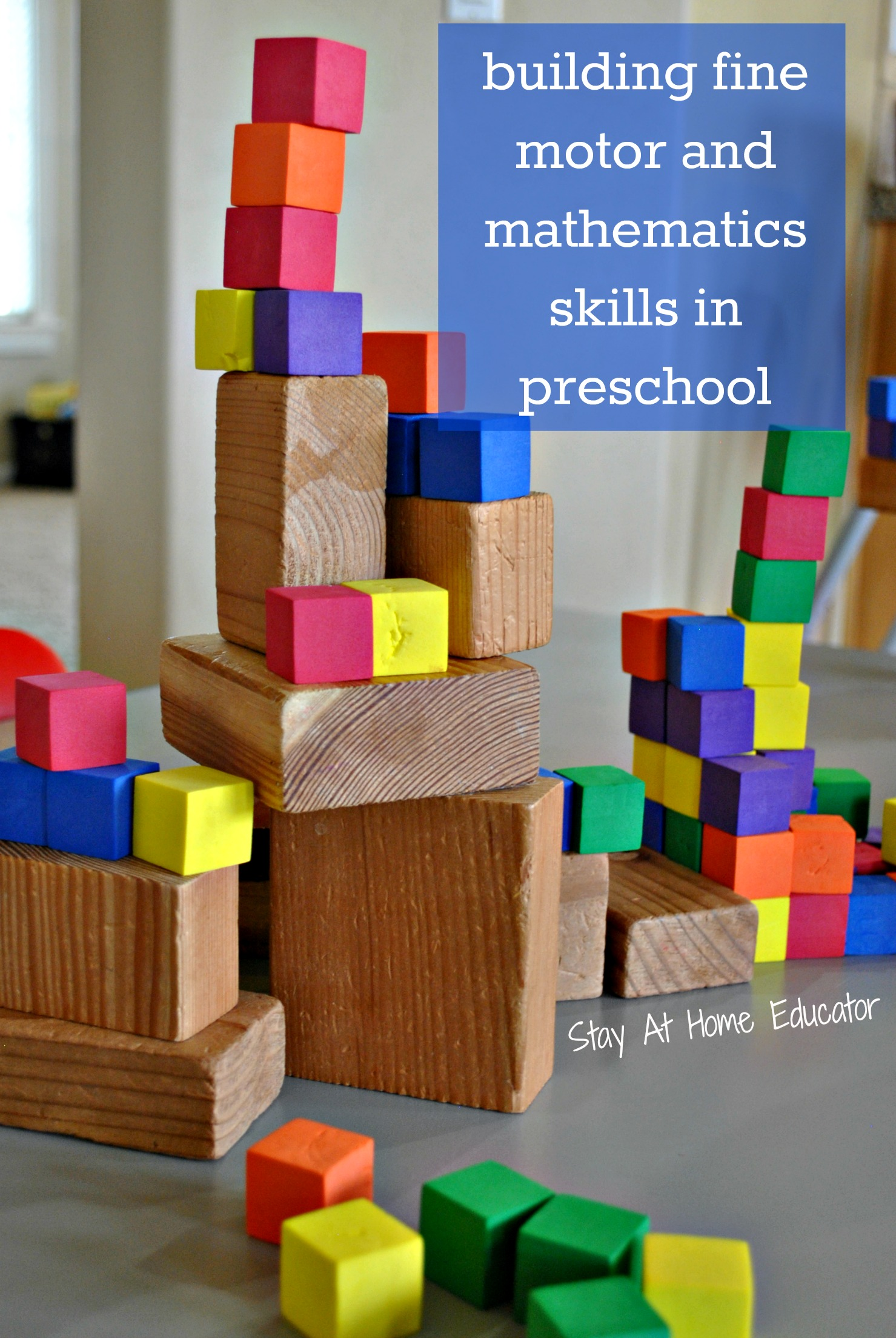 Build Fine Motor And Mathematical Skills By Stacking Blocks