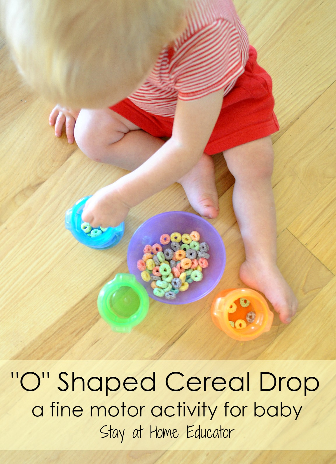 O Shaped Cereal Drop A Fine Motor Activity For Babies