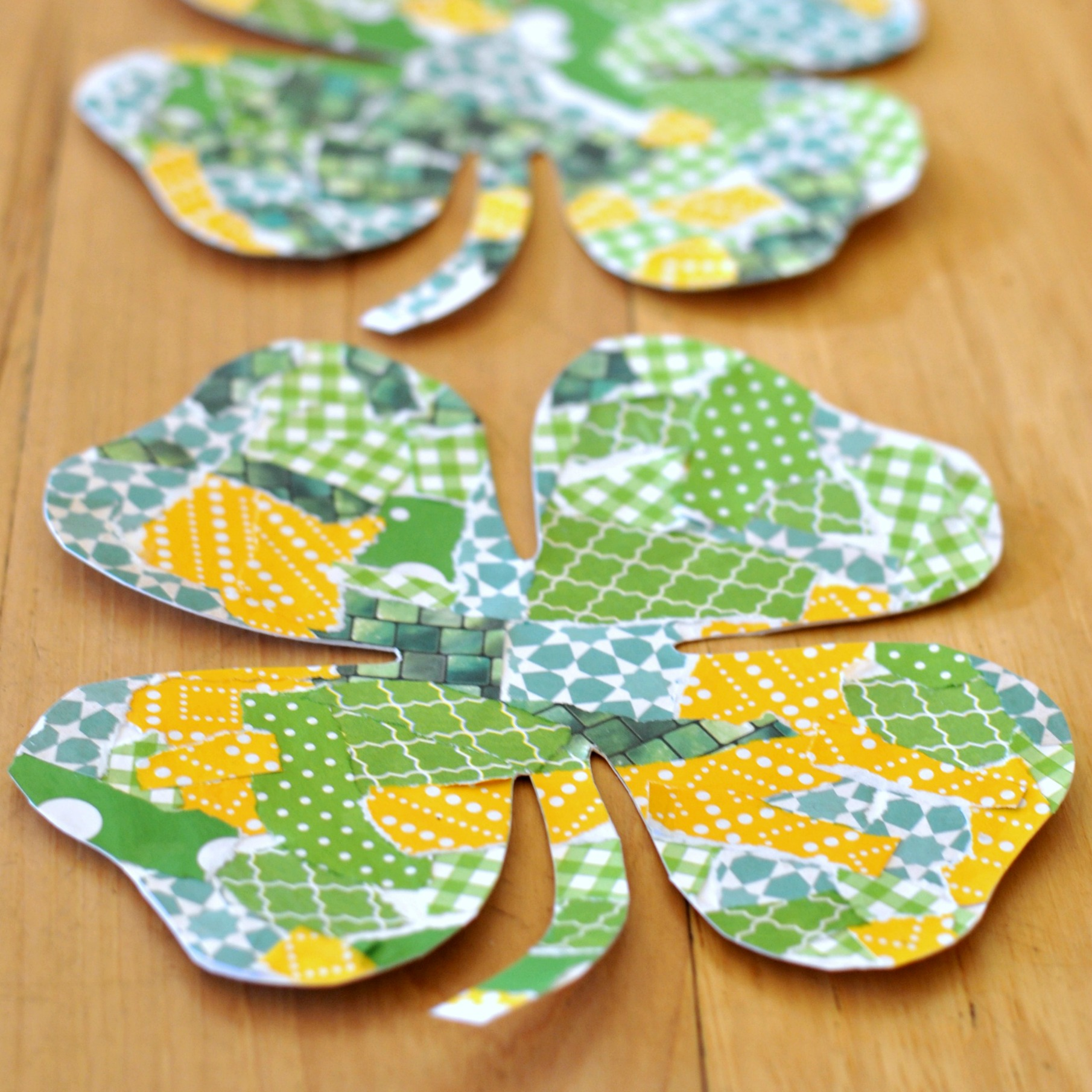 Torn Paper Shamrock Craft