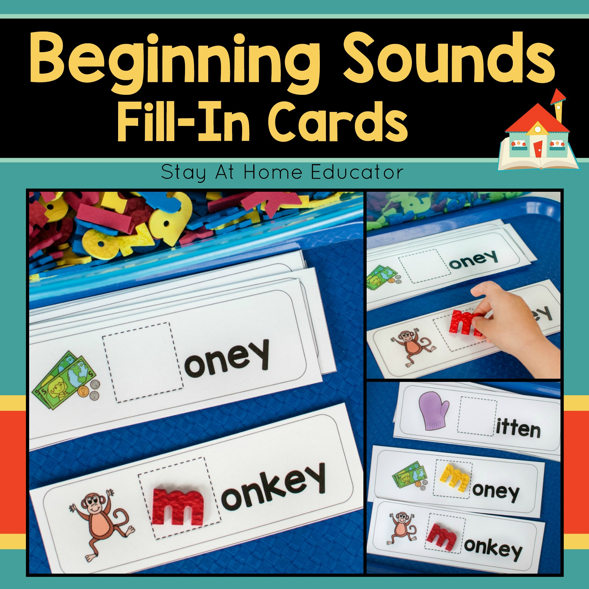 Beginning Sounds Fill In Cards
