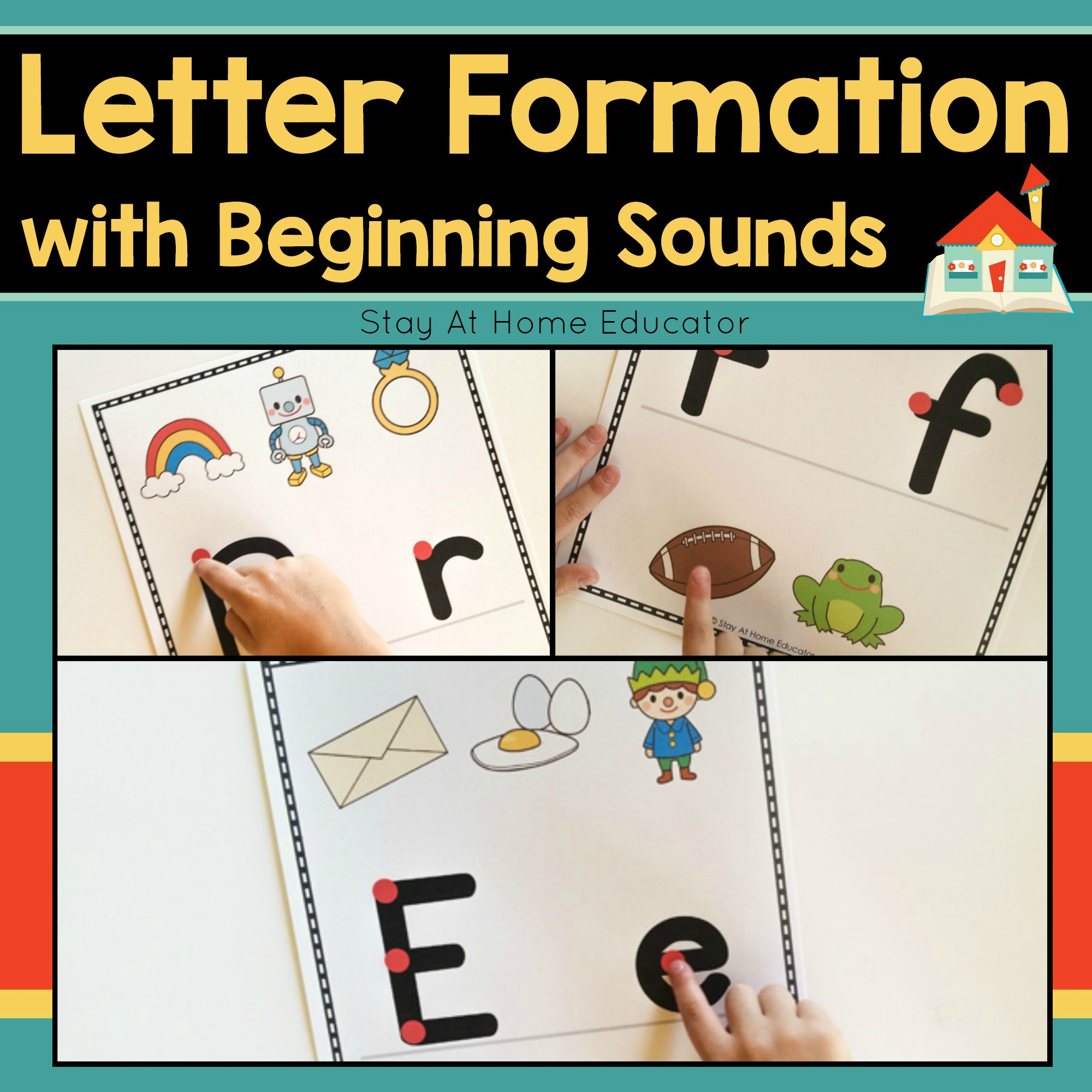 Letter Formation Mats With Beginning Sounds