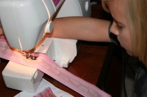 Mr9 sewing his first seam