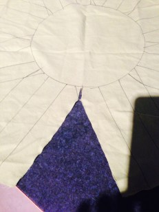 Cut out the triangles in between