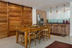 Big Bay Accommodation 6-seater wooden dining table