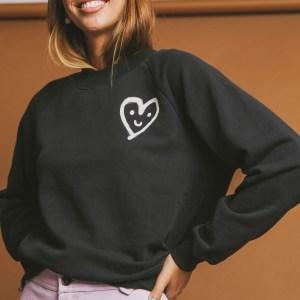 Heart Sweatshirt Thinking Mu