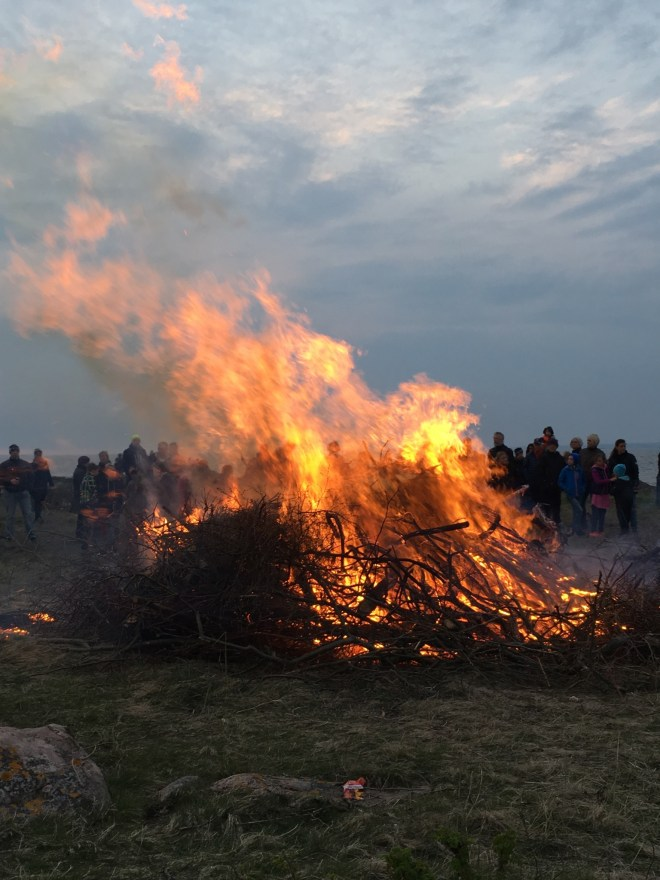 The last day in April we celebrate Valborg. We gather in our community, sing and light a fire. Welcome spring.
