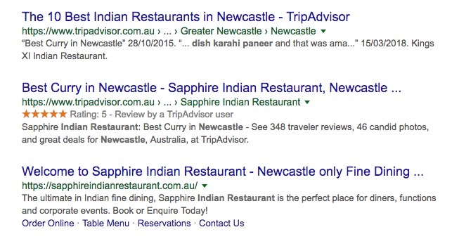 Local Business Search For Newcastle Indian Restaurants Local Organic Results