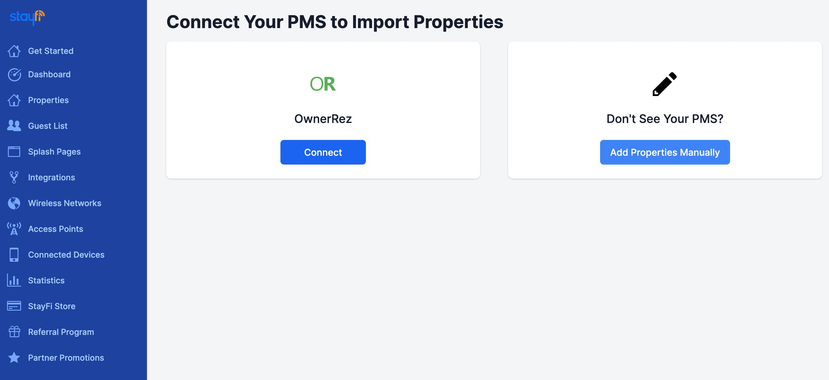 Select OwnerRez Integration