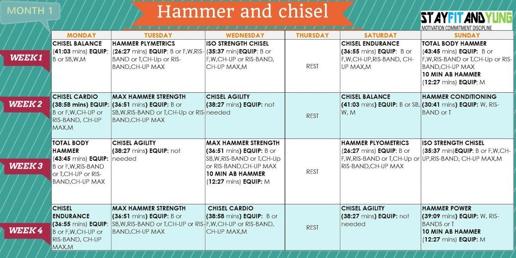 hammer and chisel workout schedule