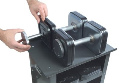Ironmaster 75 lb Quick Lock adjustable Dumbbell system with stand