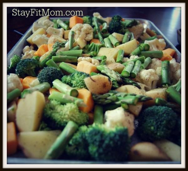 Roasting veggies to fuel my body!!