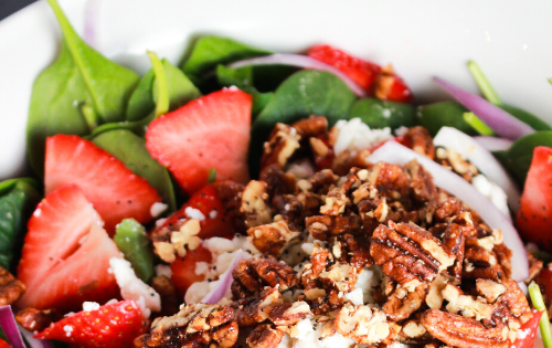 This salad is always a hit for dinner parties! A must try. #stayfitmom #strawberries #poppyseedsalad #summersaladrecipe