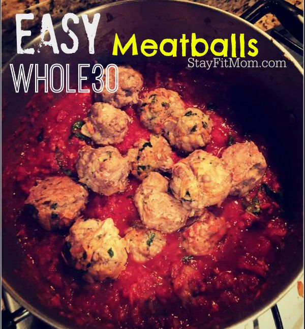 Easy, whole30 compliant meatballs from StayFitMom.com