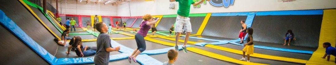 Keeping kids active at FlipNOut Family Fun center! 10,000 square feet of trampoline fun!!