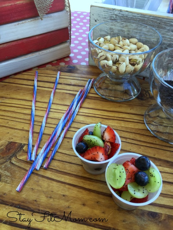 This fruit salad would be perfect for 4th of July BBQ!