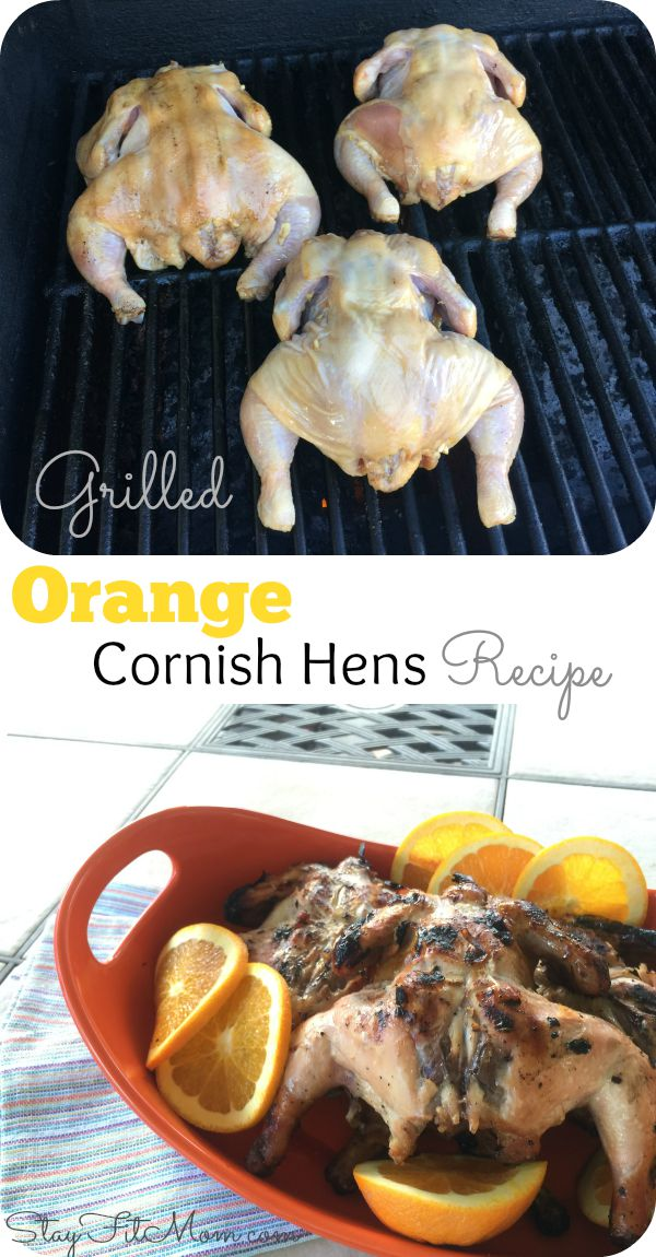 Easy, Heatlhy, Grilled Cornish Hens Recipe for summer grilling! Less than 10 ingredients!