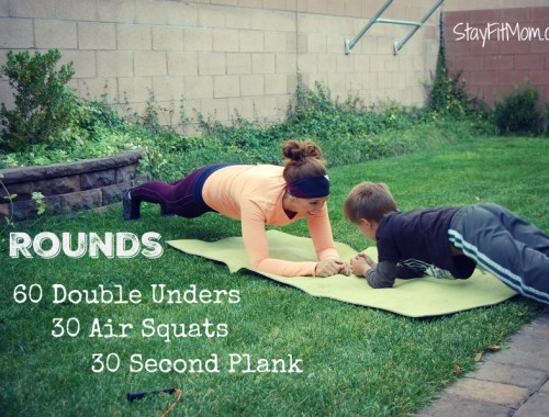 Love these CrossFit Workouts I can do at home with my family from StayFitMom.com!