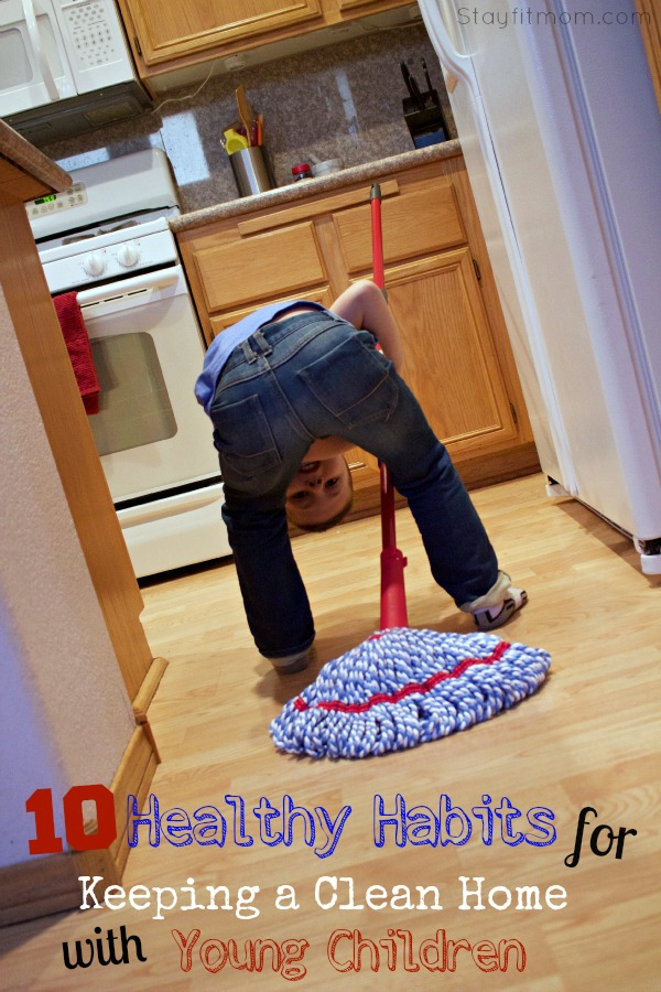 How to Keep your home organized and clean even though you have little ones. Also includes free printable chore charts!