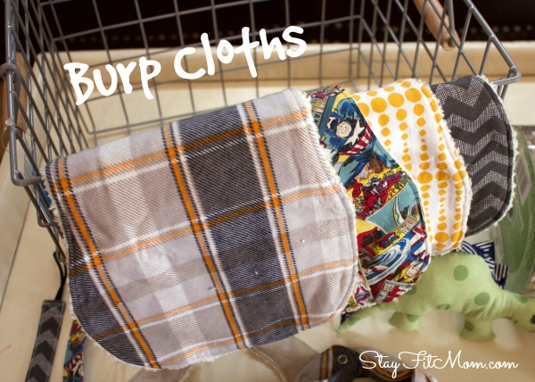 I love the patterns of these burp cloths!