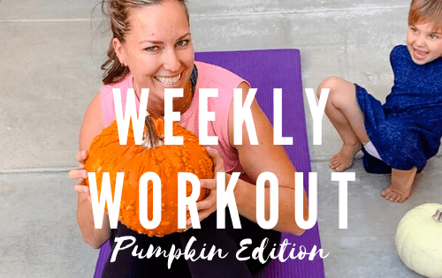 crossfit style home workout using only a pumpkin! #stayfitmom #crossfit #homeworkout