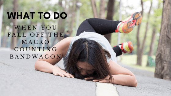 What to do when you're failing your diet hard. #stayfitmom #macrodiet #macrocounting
