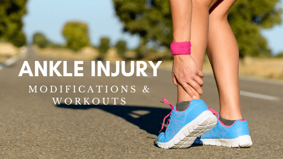 Ankle Injury mods and workout suggestions from StayFitMom.com