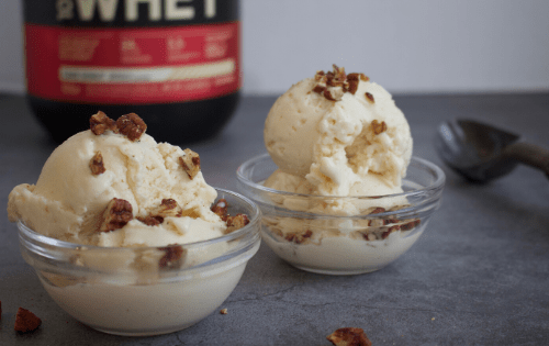 creamy, low fat protein ice cream #stayfitmom #icecream #proteinicecream #proteindessert