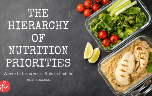 Where to focus your efforts on your nutrition.