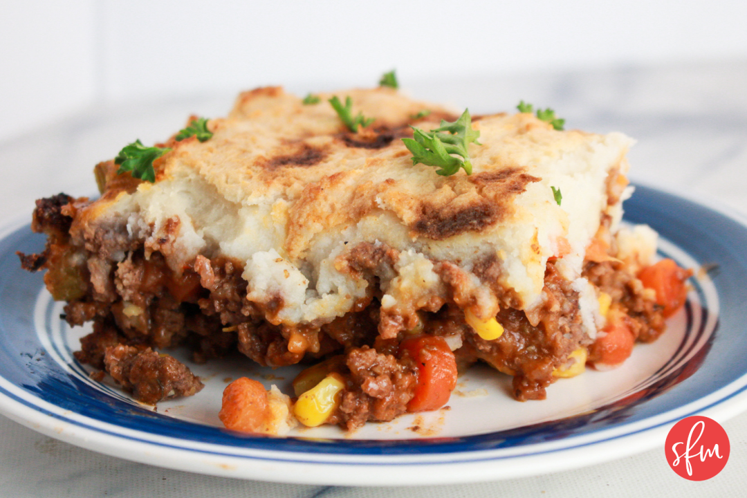macro friendly delicious Shepherd's Pie! #stayfitmom #macrofriendly #easyrecipe #dinner #shepherdspie
