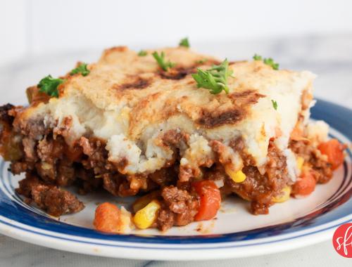 macro friendly delicious Shepherd's Pie! #stayfitmom #macrofriendly #easyrecipe #dinner #shepherdspie