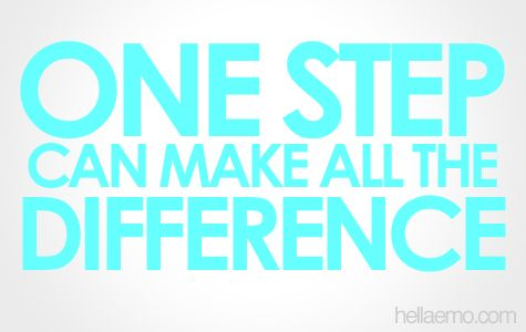 One Step That Makes a Difference….