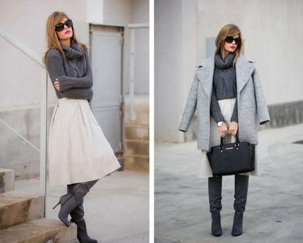 Image result for skirt and sweater outfits