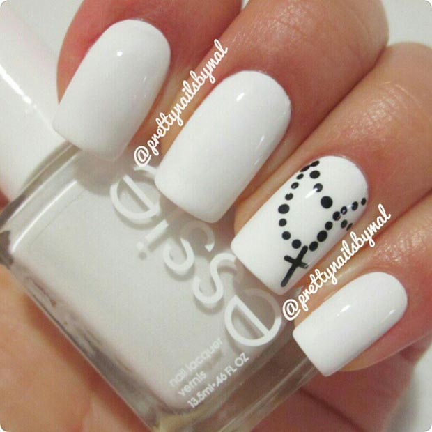 Easy Nail Art With 2 Colors