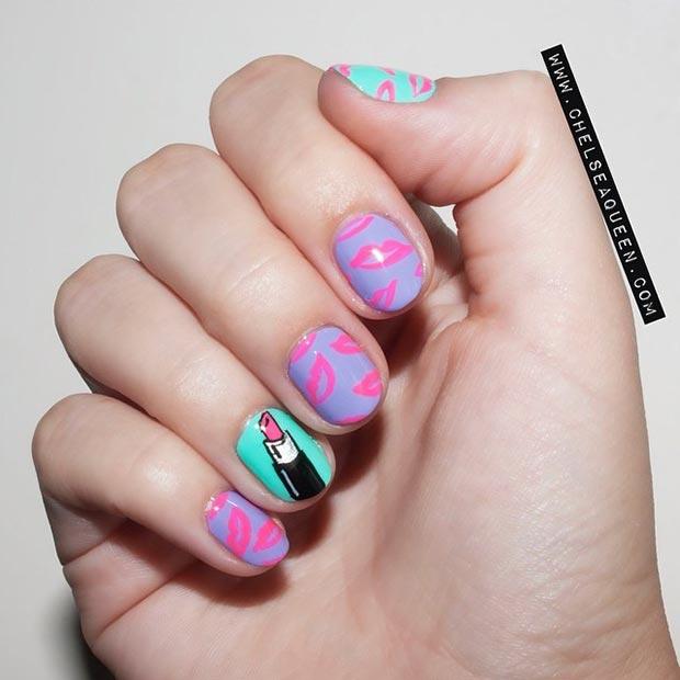 Graffiti Nail Art Tutorial Designs For Short Nails