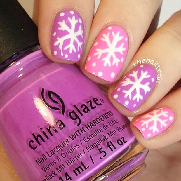 13 Snowflake Nail Art Designs For Winter
