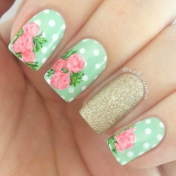 Polka Dot Flowers Design Insram Nailsbyjema