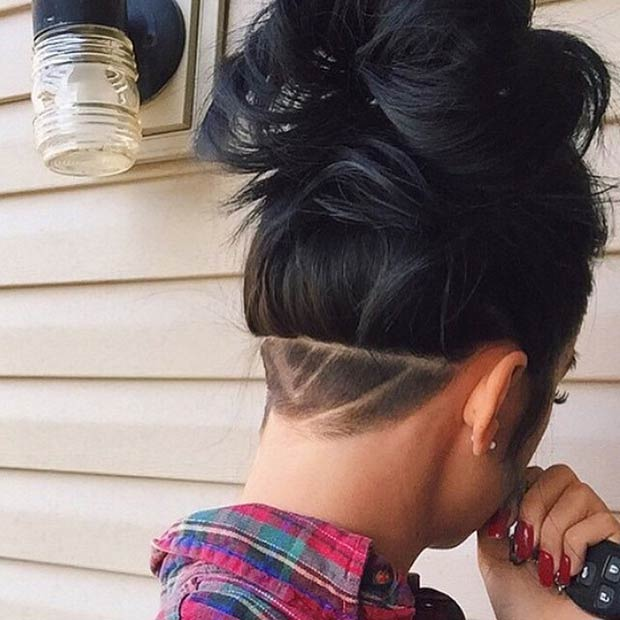 Bad-ass Shaved Hairstyle