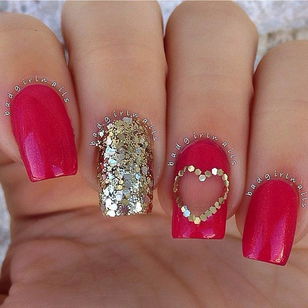 Valentines Day Nail Art Inspriation 26