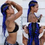 Purple and Blue Goddess hairstyle
