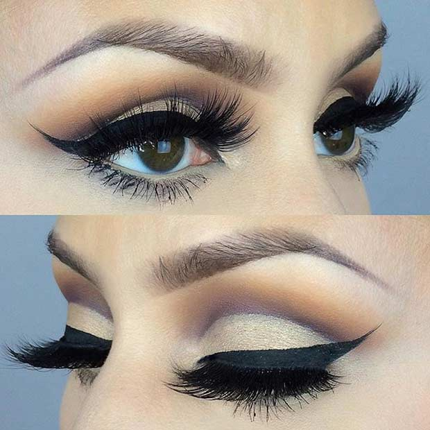 Cut Crease Wedding Eye Makeup Look